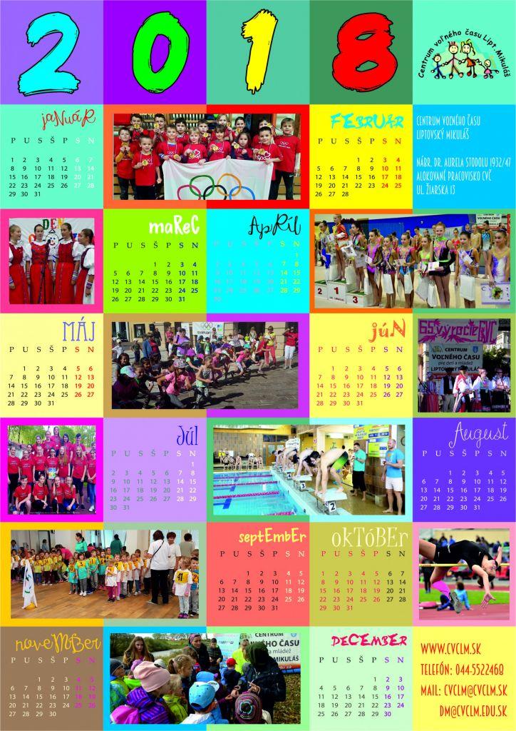 Správy - Kalendár CVČ 2018 - Centrum voľného času Liptovský Mikuláš 4fb0734ab17